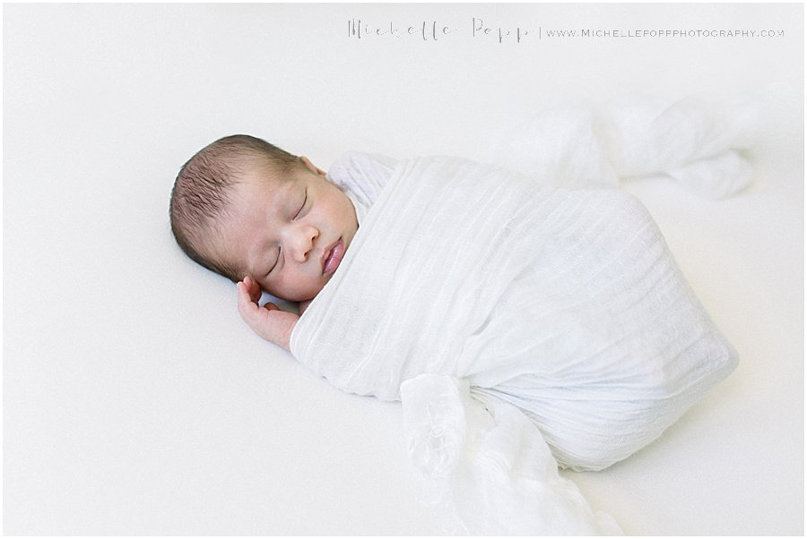 picture of baby from a newborn portrait session